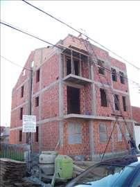 Izgradnja objekata, zidanje, adaptacija stanova