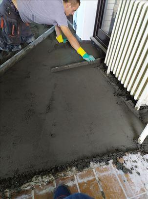 Izrada cementne košuljice - ravnajući sloj