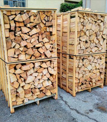 Drva za ogrev na paleti, 2 metra