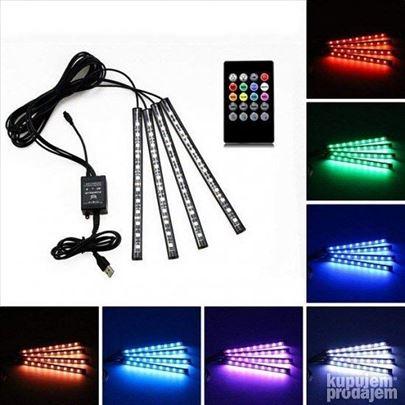 LED trake za auto RGB na 12V