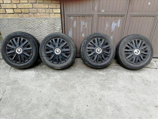 4 felne čelične, 16 cola, i 4 gume, Peugeot, Citro