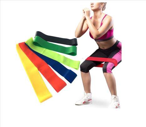 5 elastičnih traka za jogu, pilates, fitnes..
