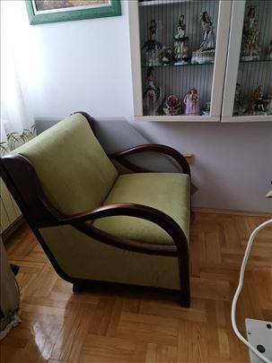 Fotelja na razvlačenje, Dvosed+Tabure