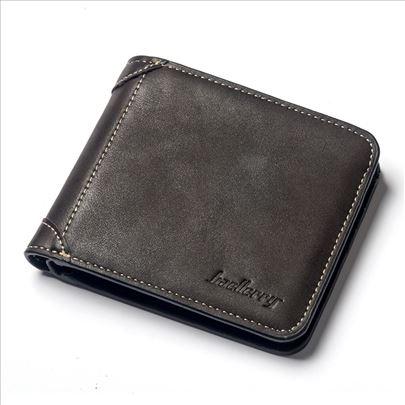 Muški kožni poslovni novčanik crni - novo