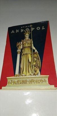 Brošura Atinski Akropol sa kartom iz 1975. godine
