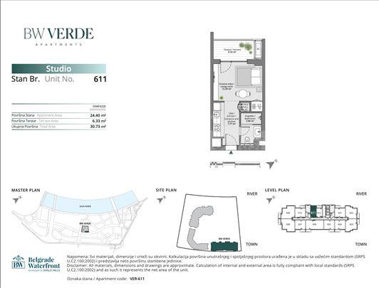 Verde, 6., najvislja garsonjera sa pogled na Savu
