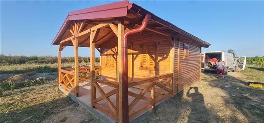 Drvene kuće Ful20 - 22.5m2+trem 12.5m2
