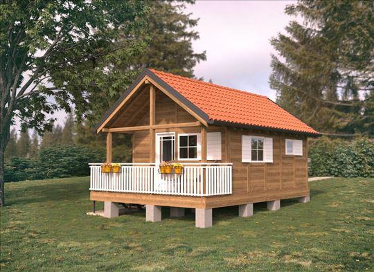 Drvena kuća 37m2