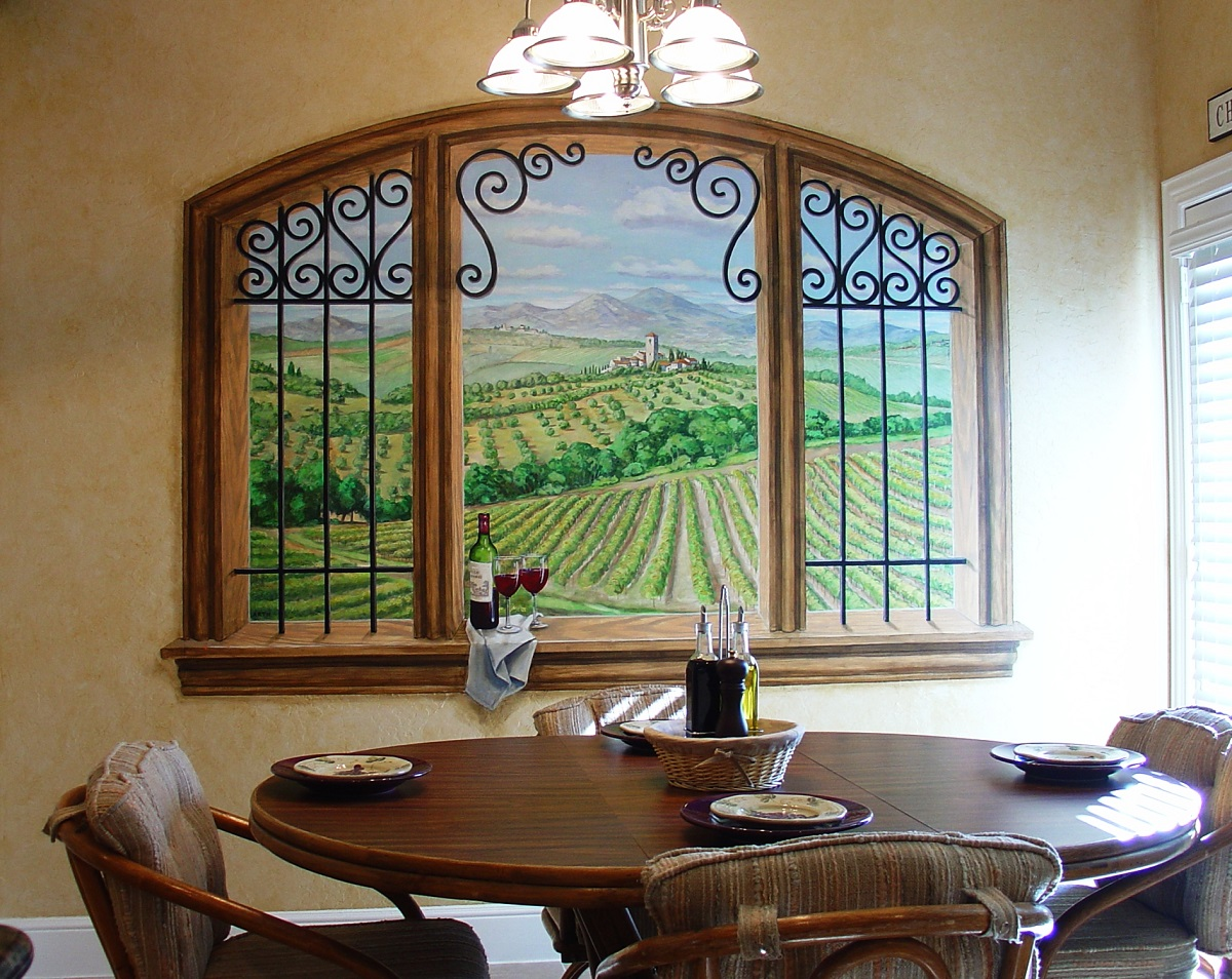Foto tapet ukras na zidu ili ormanu halo oglasi for Dining room mural wallpaper
