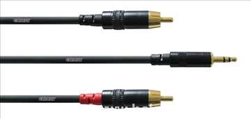 Kablovi Cordial 2RCA-1Jack 3.5mm 1.5m