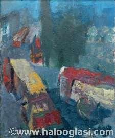 Okretnica u Knez Mihailovoj, 55x46, ulje