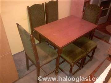 Kuhinjski sto dimenzija (110x70.2x76) sa 6 stolica