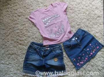 Šorc i majica vel. 12, suknja H&M  vel.4