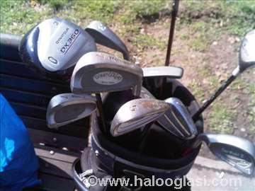 Golf štapovi 12 kom sa torbom i kolicima