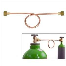 Priprema za pretakanje plina CO2/Argon