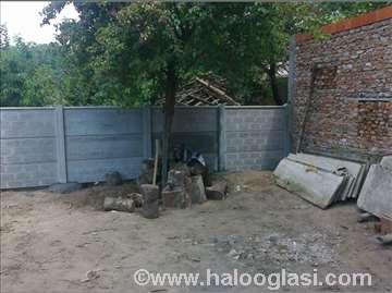 Betonska montažna ograda hit
