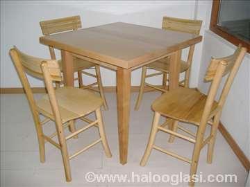 Tradicionalni srpski sto-astal+4 stolice