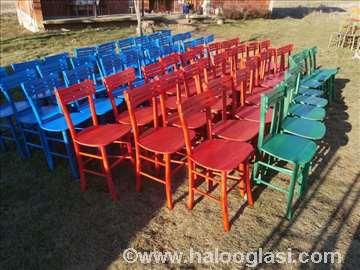 Stolice za igraonice-u raznim bojama