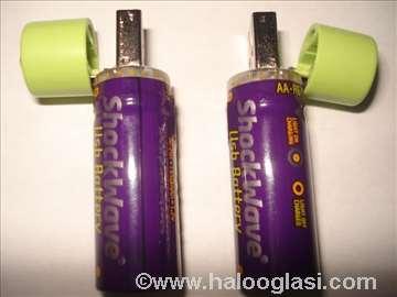 Punjive USB baterije, 1.2V NI-MH, 1.450 mAh