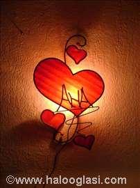 Zidna lampa sa natpisom