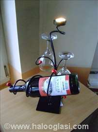 Stalak za vino, čaše, sveću