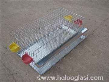 Kavezi za prepelice sa tacnom