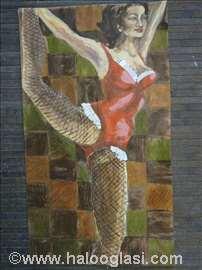Akrilik na papiru - motivi plesačica 850 din/kom