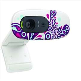 Logitech C270 HD Webcam White Paisley