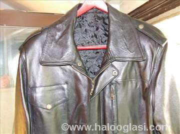 Crna kožna jakna /nova/
