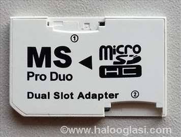 Micro SD na Memory Stick Pro Duo Adapter - Dual