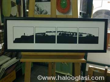 Petrovaradinska tvrđava - crno-bela