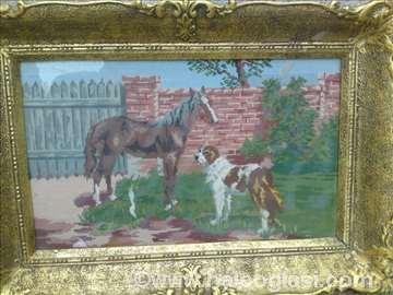 Vilerov goblen Pas i konj