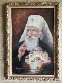 Patrijarh Pavle i Hram S.Save, ulje