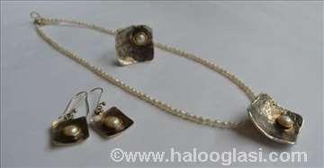 Ogrlica, prsten i minđuše