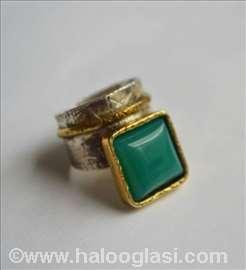 Prsten, srebro i pozlata