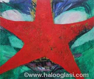 Patrik, morska zvezda, ulje na platnu, 165x195cm