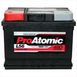 Akumulator 12V 56AH 480A levo+ PROATOMIC 99A052