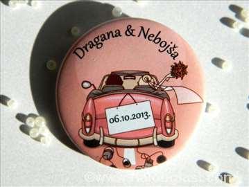 Bedževi za goste na venčanju
