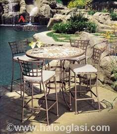 Nameštaj od kovanog gvožđa, stolice i stolovi