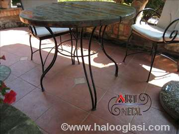 Stolovi, stolice, klupe od kovanog ukrasnog gvožđa