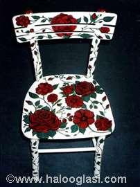 Ručno oslikana stolica