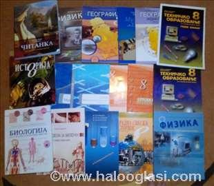 Osnovna škola- 8 razred- komplet udžbenici knjige