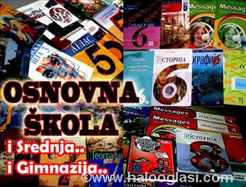 Knjige- UDZBENICI, OSNOVNA srednja škola