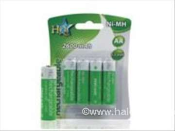 Punjive baterije NIMH 2600mAh