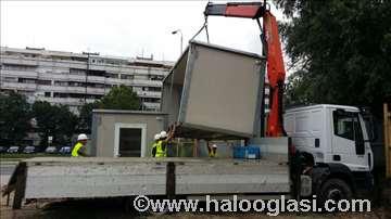 Prevoz građevinskog materijala sa istovarom