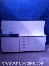 Kuhinja 2 metra u beloj boji