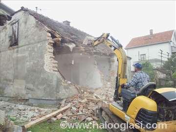 Iskop zemlje, rušenje kuća