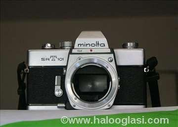 Minolta SRT-101-telo,prstenovi,teleconv.