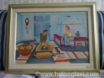 Jan Husarik ulje na platnu 1971. god