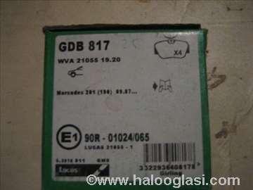 Disk plocice gdb817 merc. 190 82-93